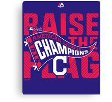 CLEVELAND INDIANS RAISE THE FLAG Canvas Print