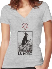 La Mort Women's Fitted V-Neck T-Shirt
