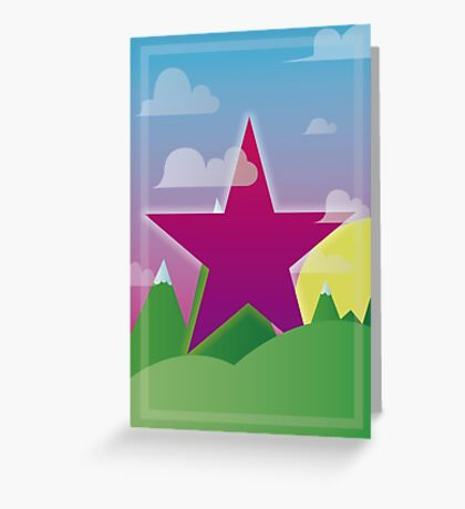 cool star Greeting Card