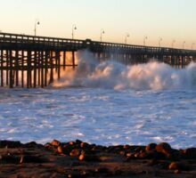 Ocean Wave Storm Pier Sticker
