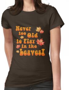 Playing in the leaves Womens Fitted T-Shirt
