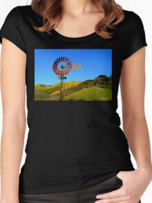 Water Pumping Windmill Women's Fitted Scoop T-Shirt