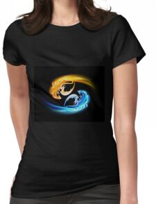 The pair of dragons turning in the sky Womens Fitted T-Shirt