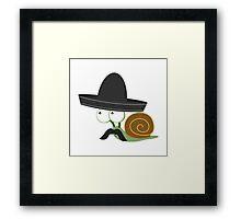 Caracolcito Bandito Framed Print