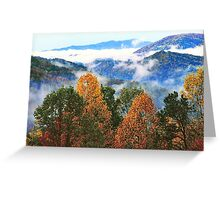 AUTUMN STORM,SUGARLANDS VALLEY Greeting Card