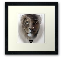 LeBron James 'Lion' Design Framed Print