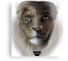 LeBron James 'Lion' Design Canvas Print