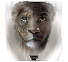 LeBron James 'Lion' Design Poster