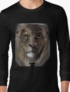 LeBron James 'Lion' Design Long Sleeve T-Shirt