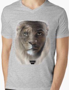 LeBron James 'Lion' Design Mens V-Neck T-Shirt