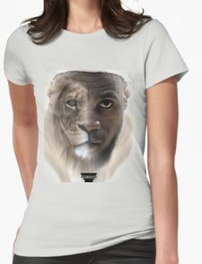 LeBron James 'Lion' Design Womens Fitted T-Shirt