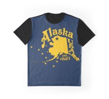Just Alaska Gold est 1867 Alaska Map Art Graphic T-Shirt