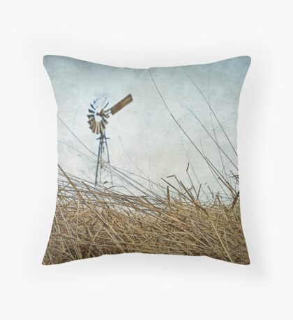 Mill on the Downs Throw Pillow