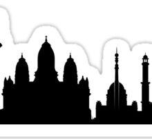 Delhi skyline Sticker