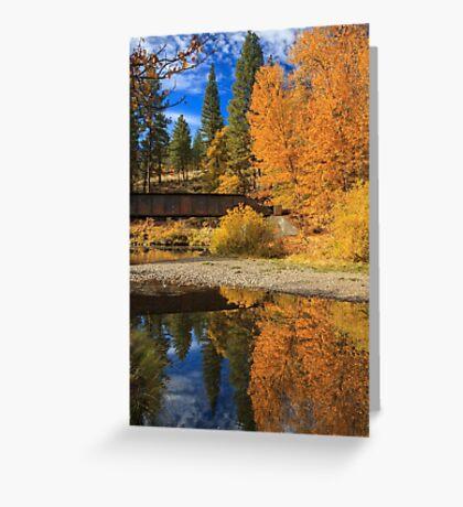 Bridge Over The Susan River Greeting Card