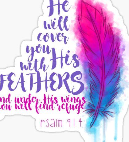 Psalm 91:4 Sticker