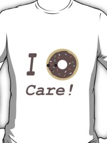 I donut Care! Chocolate Kawaii donut T-Shirt