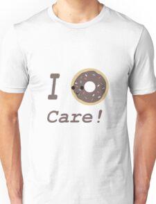 I donut Care! Chocolate Kawaii donut Unisex T-Shirt