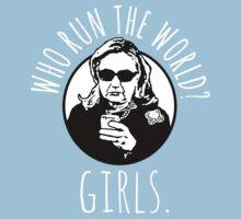 Hillary Clinton Who Run The World One Piece - Short Sleeve