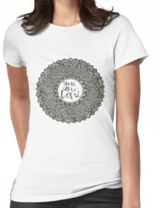 """You Are Loved"" mandala Womens Fitted T-Shirt"