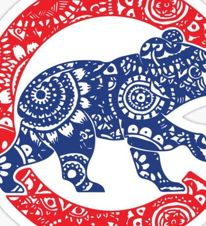 Cubs Bear Logo Doodle Sticker