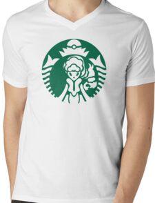 Alolan Starbucks (Green Outline) Mens V-Neck T-Shirt