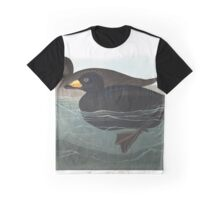 American Scoter Duck, by John Audubon Graphic T-Shirt
