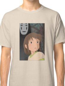 """Don't be such a scaredy cat, Chihiro"" - Spirited Away Art Classic T-Shirt"
