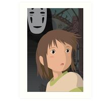 """Don't be such a scaredy cat, Chihiro"" - Spirited Away Art Art Print"