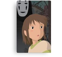 """Don't be such a scaredy cat, Chihiro"" - Spirited Away Art Canvas Print"