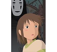 """Don't be such a scaredy cat, Chihiro"" - Spirited Away Art Photographic Print"