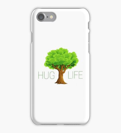 hug life tree hippie hippies inspirational natural green nature spiritual relaxning vegetarian vege t shirts iPhone Case/Skin