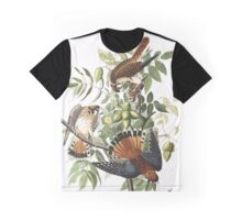 American Sparrow Hawk, by John Audubon Graphic T-Shirt