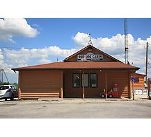 Route 66 - Old Log Cabin Photographic Print