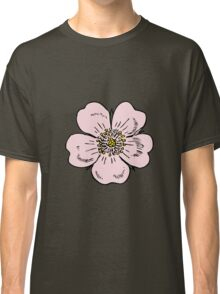 pink wild rose female girl woman flower cute beautiful hippie retro vintage t shrits Classic T-Shirt