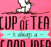 Snoopy Tea Sticker