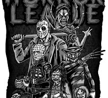 Horror League (Sticker version) by andresMvalle