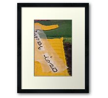 Letters from Portugal series (Escondida) Framed Print