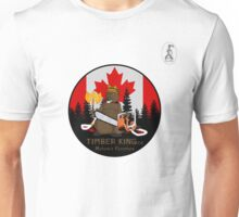Timber King Log Furniture Canadian Beaver Mascot.See our entire collection at 150Shop.ca or 2017Shop.ca Unisex T-Shirt