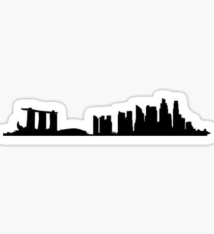 Singapore skyline Sticker