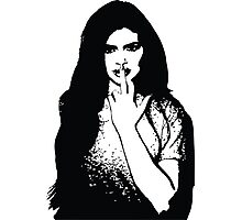 Kylie B+W Middle Finger Photographic Print