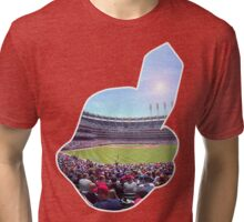 Chief Wahoo - Progressive Field Tri-blend T-Shirt