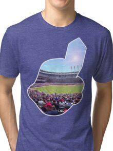Chief Wahoo - Progressive Field Tri-blend T-Shirt