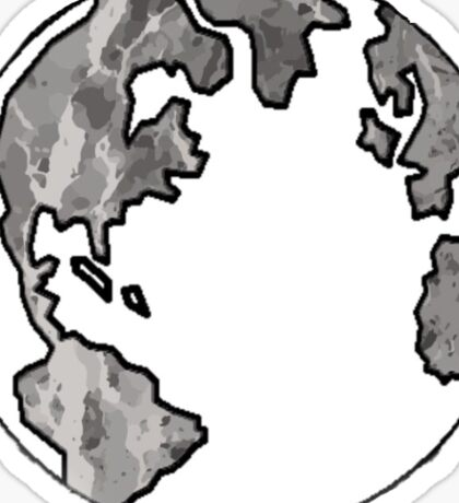 White Marble Globe  Sticker