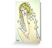 The glow of a Woman...( please read description)  Greeting Card