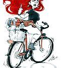 Badass girl on a bike by asurocks