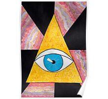 Seeing eye geode / pyramid third eye spiritual consciousness Poster