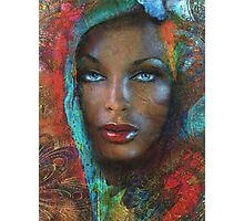 Blue Eyes Dark Oriental Photographic Print