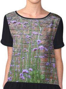 Purple Flower Background Chiffon Top