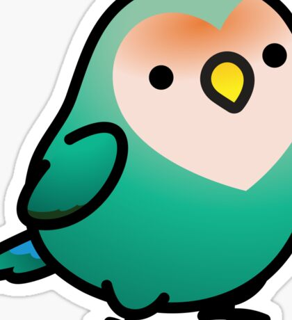 Chubby Dutch Blue Peach-faced Lovebird Sticker